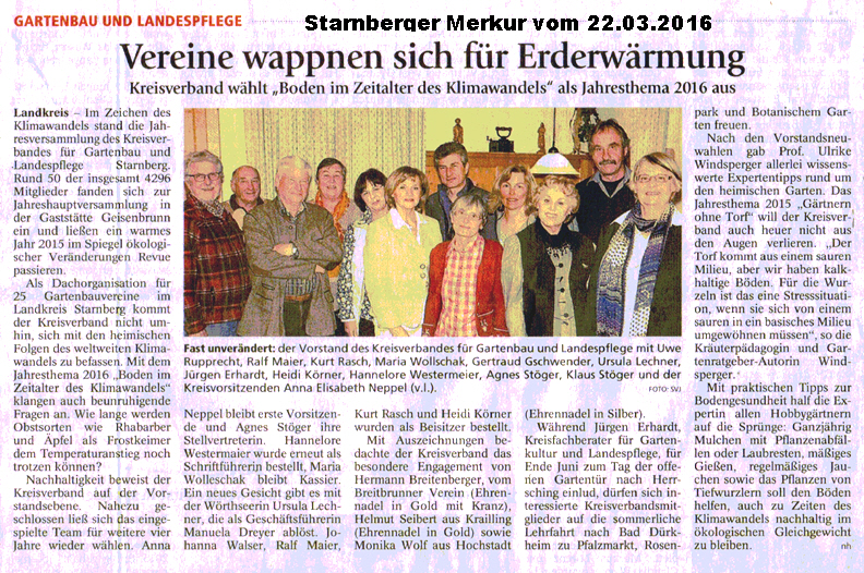 Jahreshauptvers 2016 in geisenbrunn kreisverband f r gartenbau und landespflege starnberg - Gartenbau starnberg ...